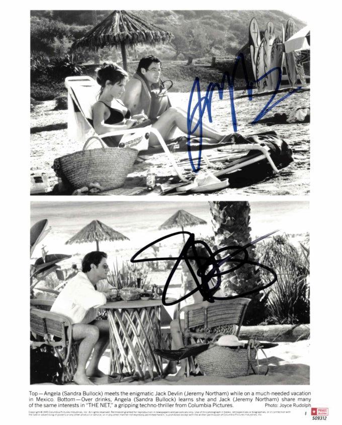 Sandra Bullock & Jeremy Northam - autogram