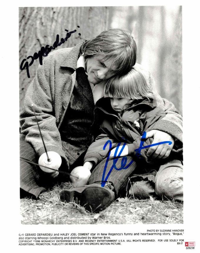 Gerard Depardieu & Haley Joel Osment - autogram