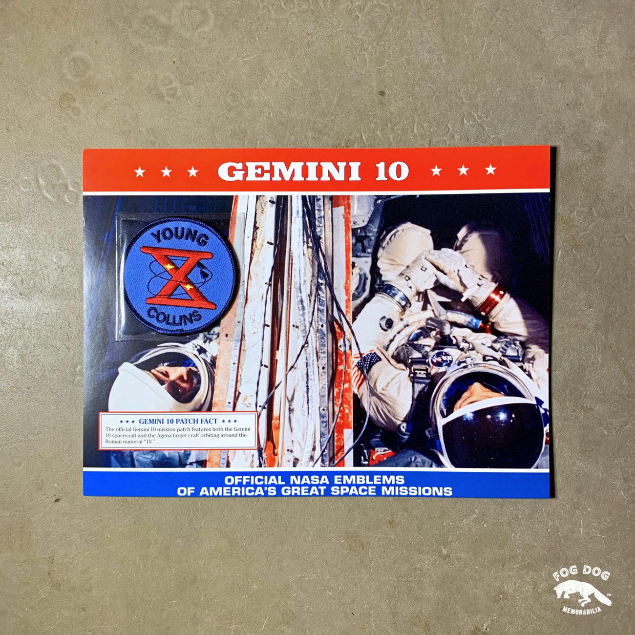 Oficiální textilní nášivka NASA - GEMINI 10