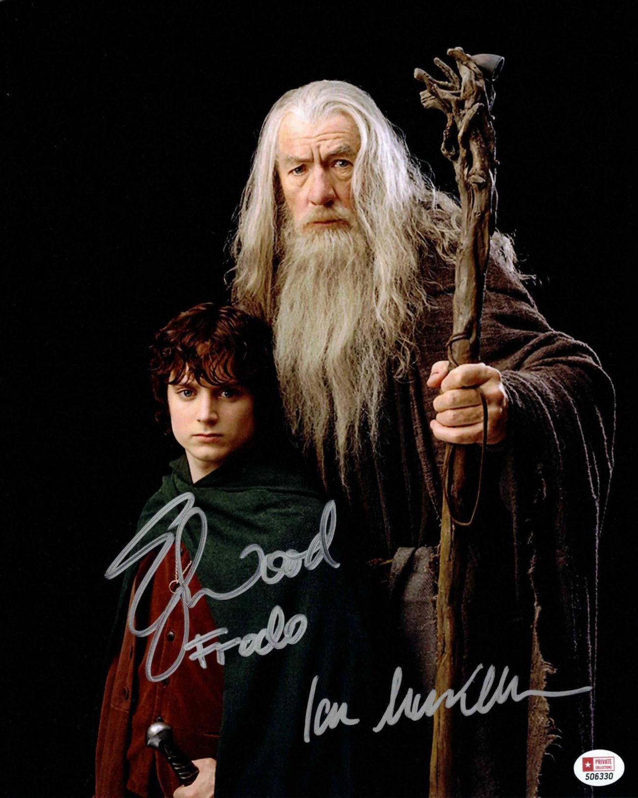 Ian McKellen & Elijah Wood / Frodo & Gandalf, Pán prstenů - autogram