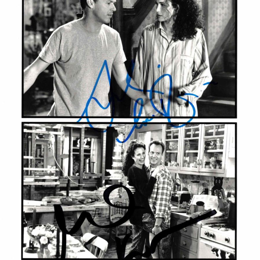 Andie MacDowell & Michael Keaton - autogram