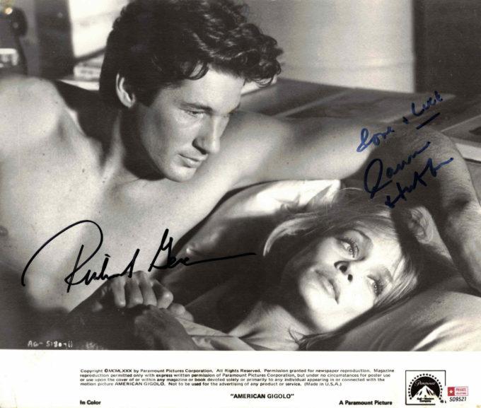 Richard Gere & Lauren Hutton - autogram