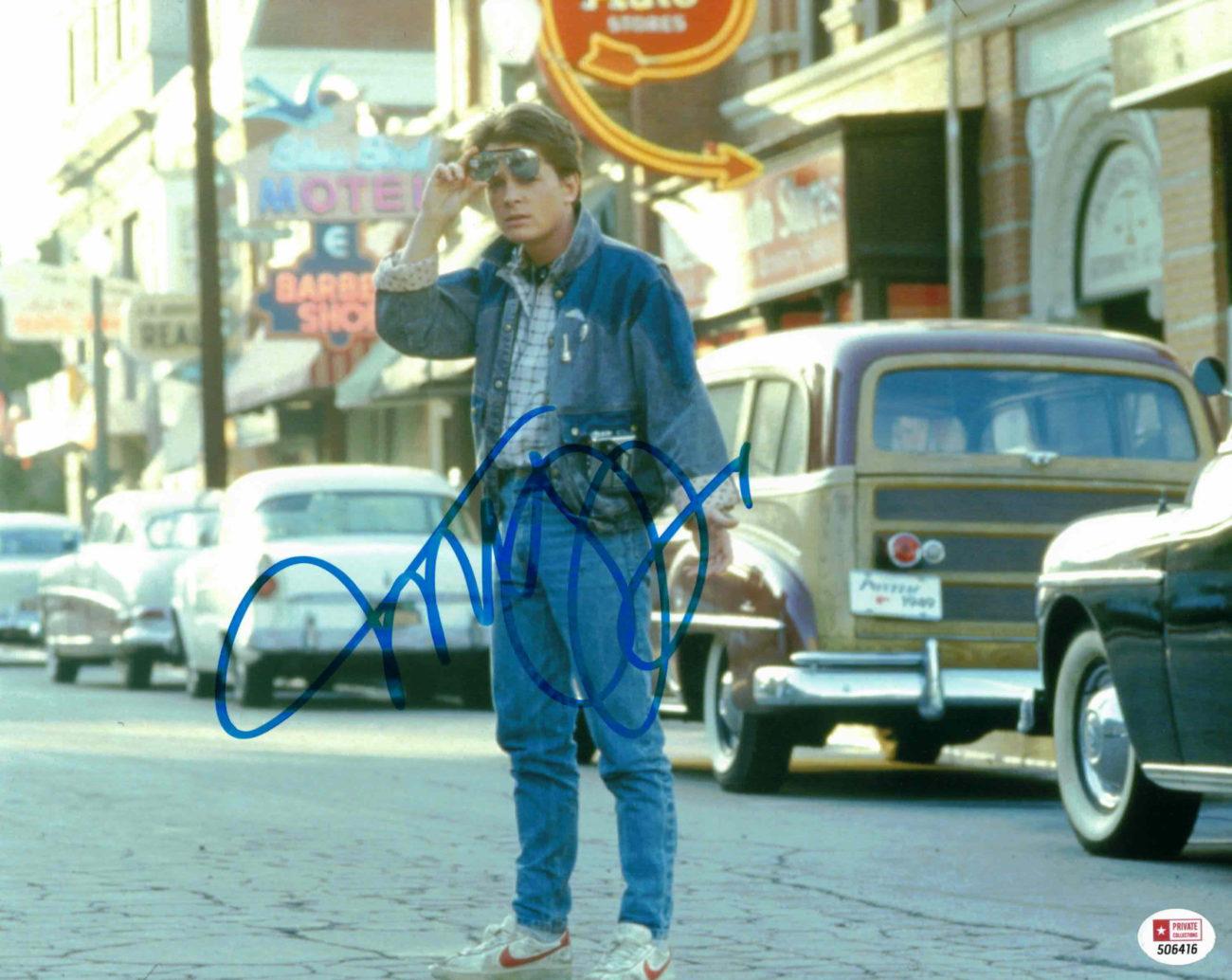 Michael J. Fox / Návrat do budoucnosti - autogram