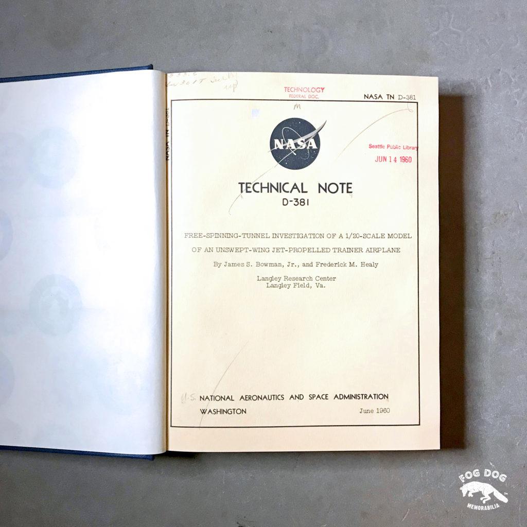 Kniha NASA Technical Note (1960)