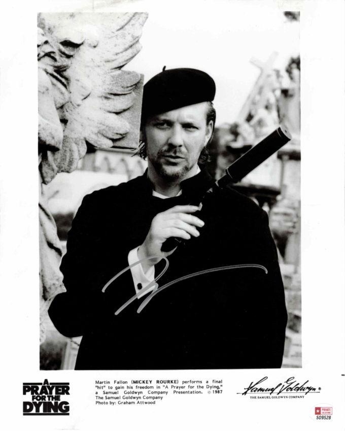 Mickey Rourke - autogram