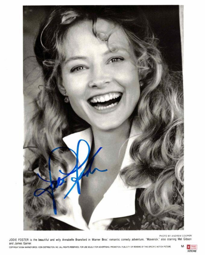 Jodie Foster - autogram