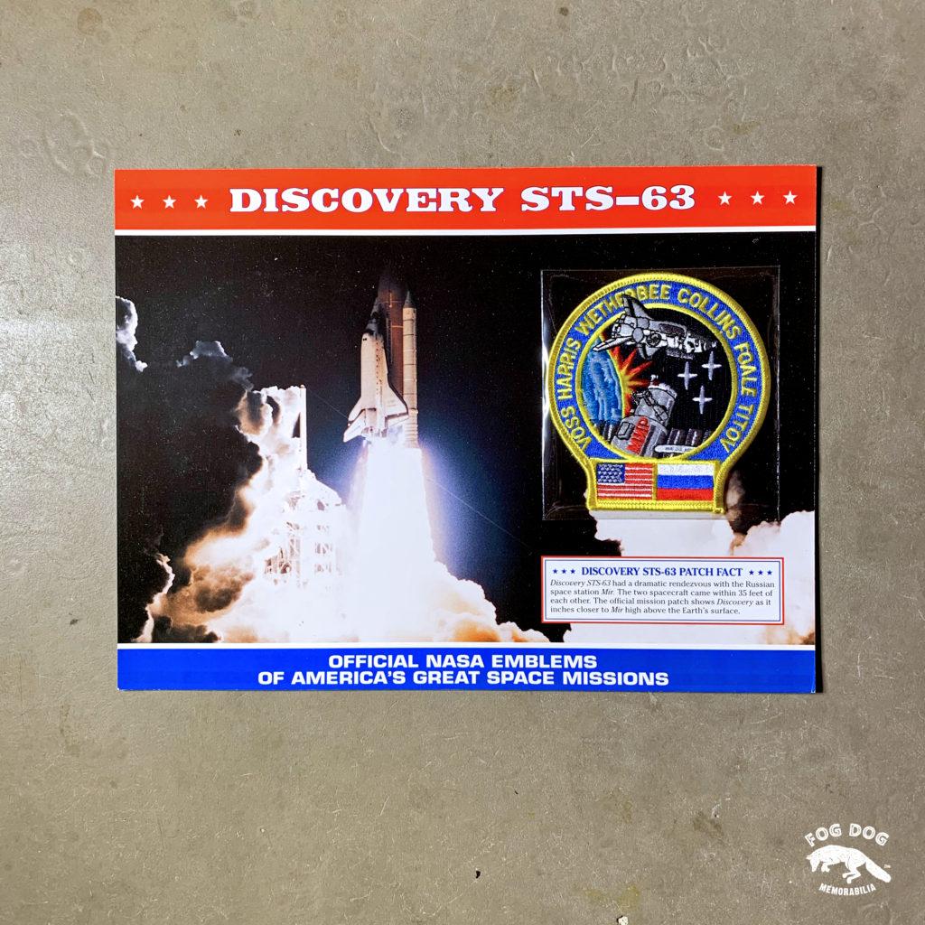 Oficiální textilní nášivka NASA - DISCOVERY STS-63
