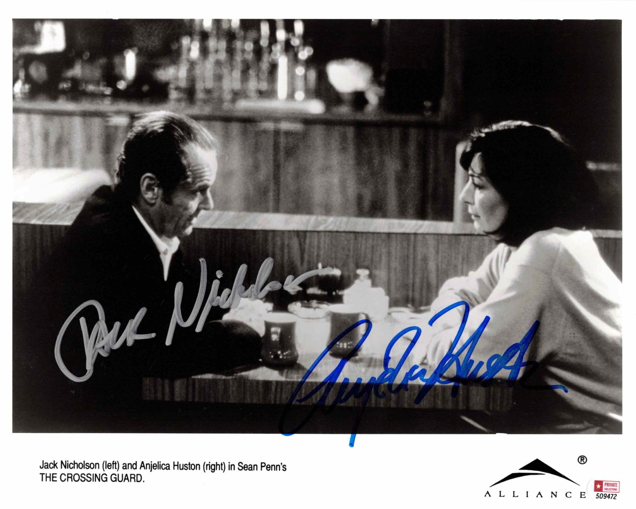 Anjelica Huston & Jack Nicholson - autogram