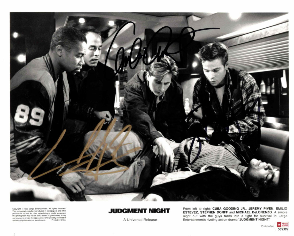 Cuba Gooding Jr., Emilio Estevez & Stephen Dorff - autogram