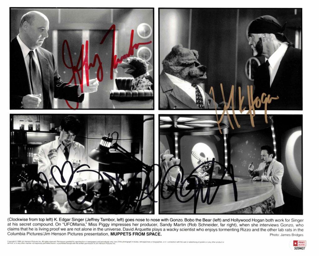 Hulk Hogan, David Arquette & Jeffrey Tambor - autogram