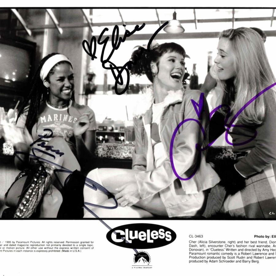 Alicia Silverstone, Stacey Dash & Elise Donovan - autogram