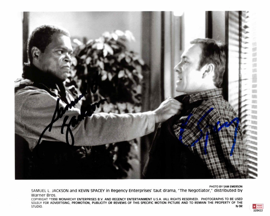Samuel L. Jackson & Kevin Spacey - autogram