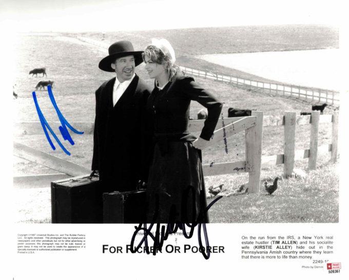 Tim Allen & Kirstie Alley - autogram