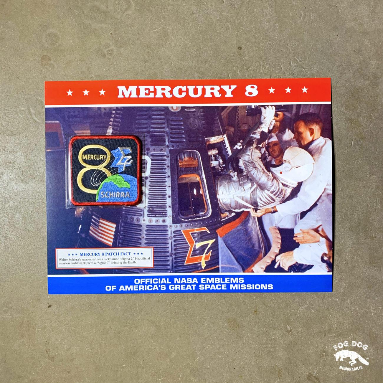 Oficiální textilní nášivka NASA - MERCURY 8