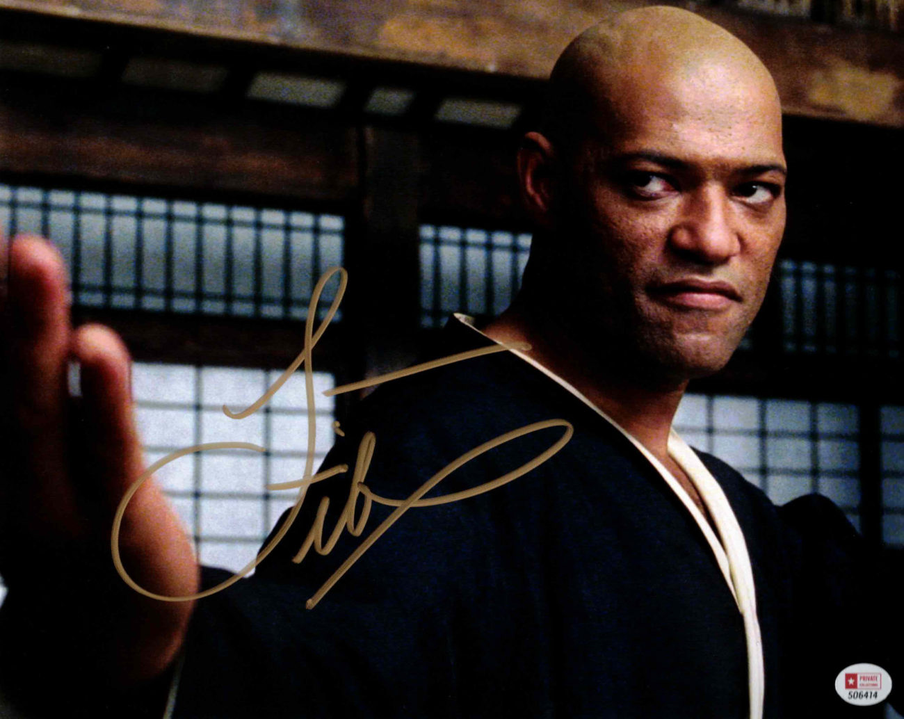 Laurence Fishburne / MATRIX - autogram