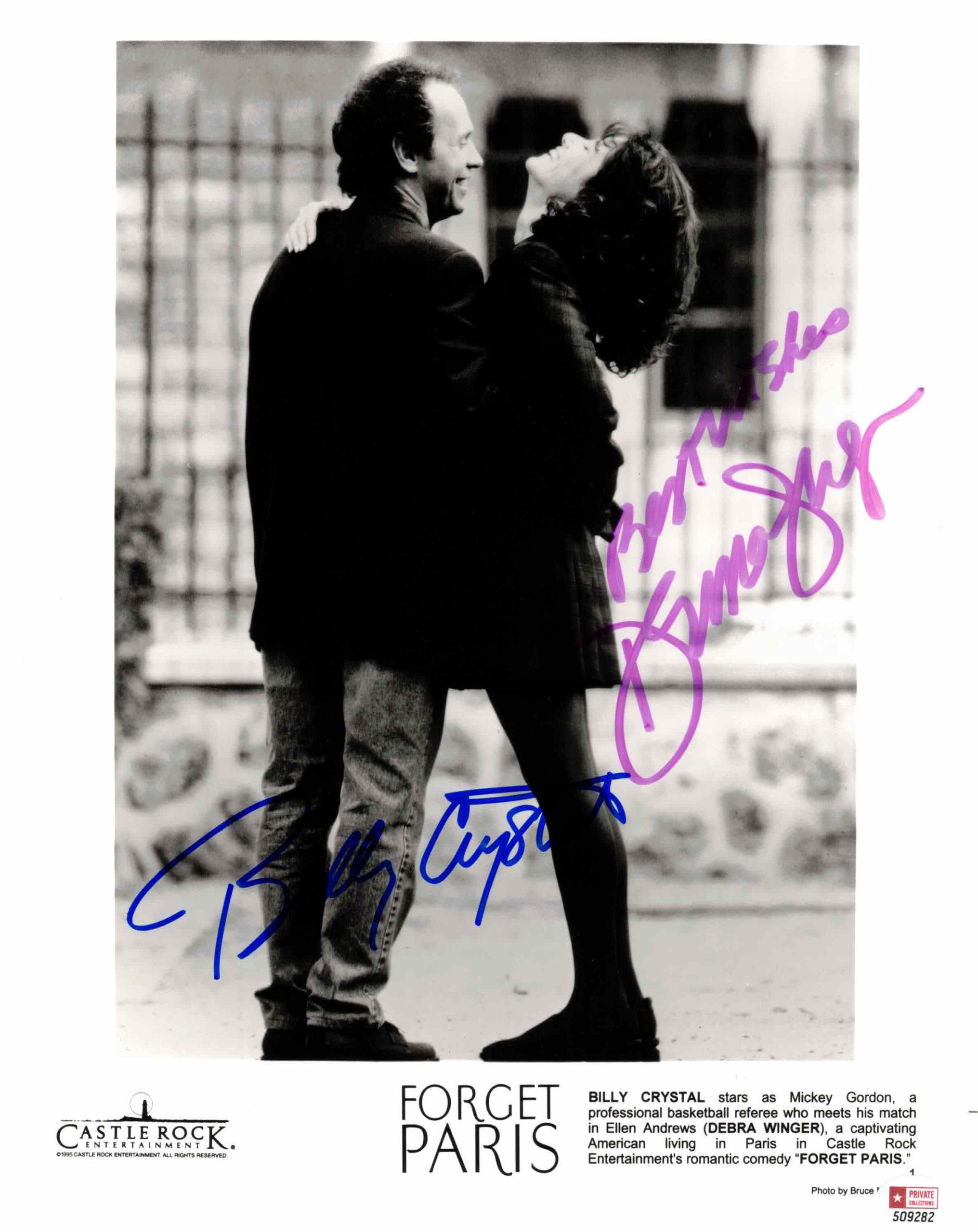 Billy Crystal & Debra Winger - autogram