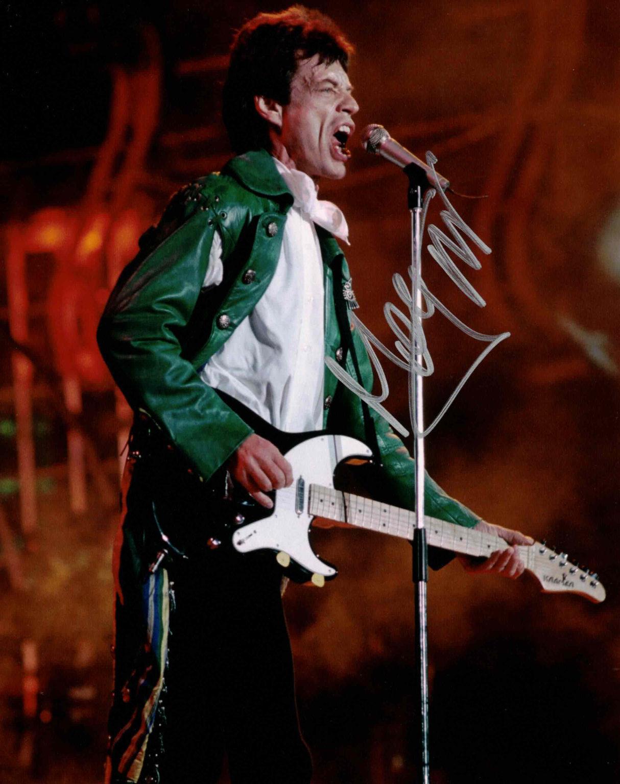 Mick Jagger - autogram