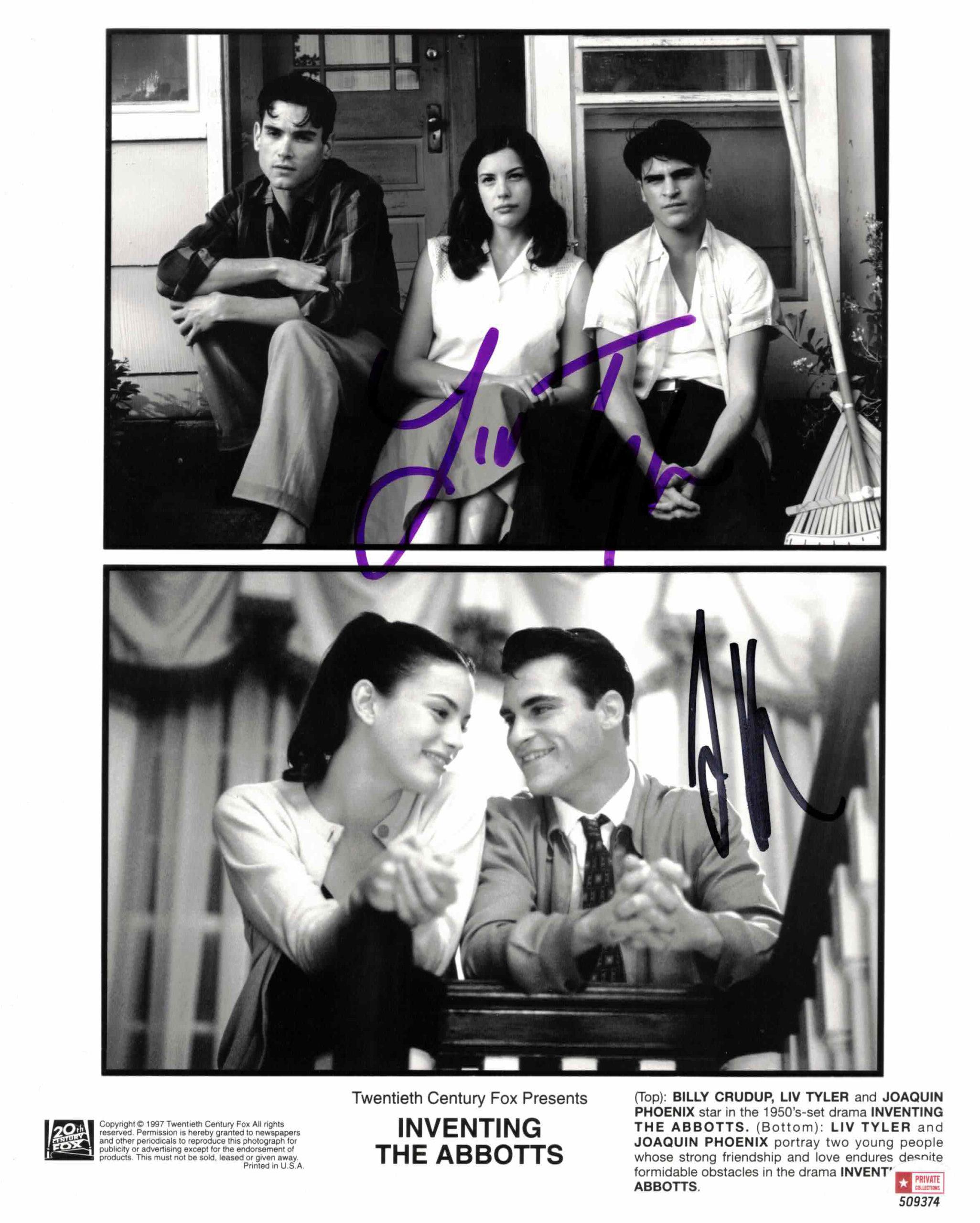 Liv Tyler & Joaquin Phoenix - autogram