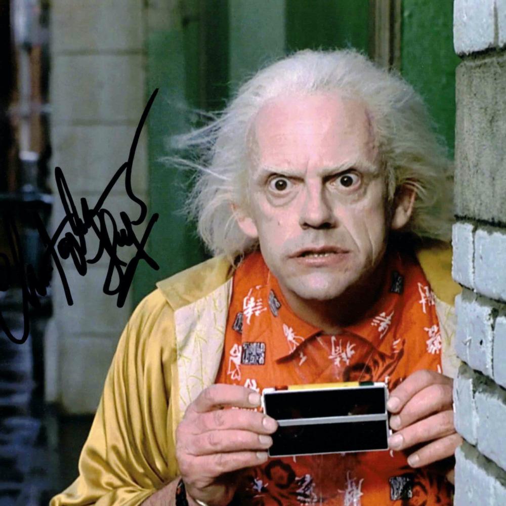 Christopher Lloyd / Návrat do budoucnosti - autogram