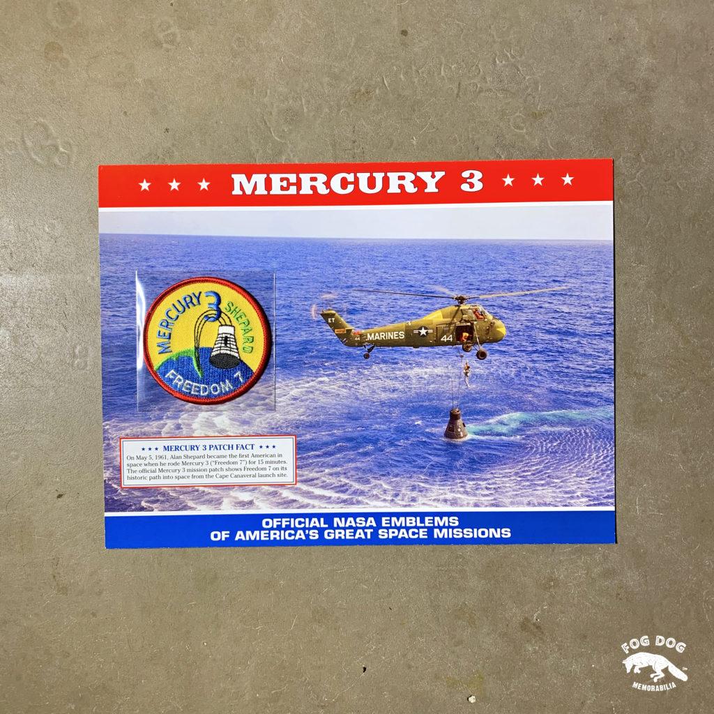 Oficiální textilní nášivka NASA - MERCURY 3