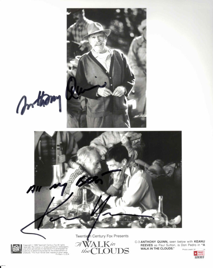 Anthony Quinn & Keanu Reeves - autogram