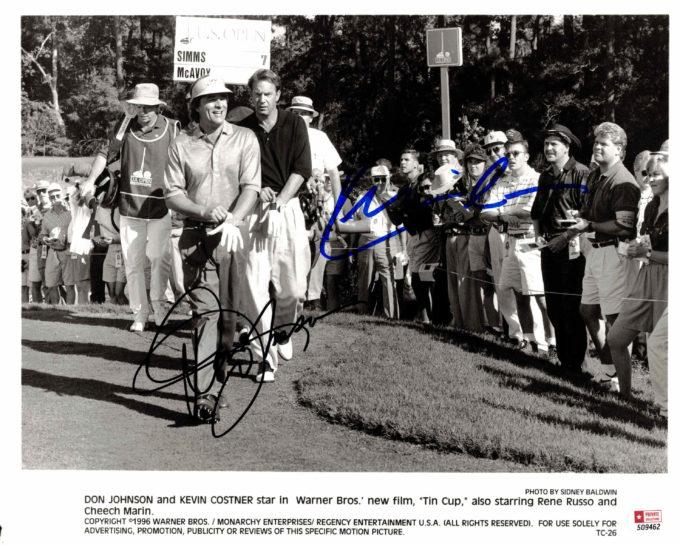 Don Johnson & Kevin Costner - autogram