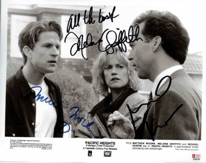 Melanie Griffith, Michael Keaton & Matthew Modine - autogram