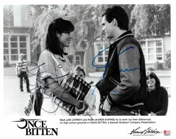 Jim Carrey & Karen Kopins - autogram