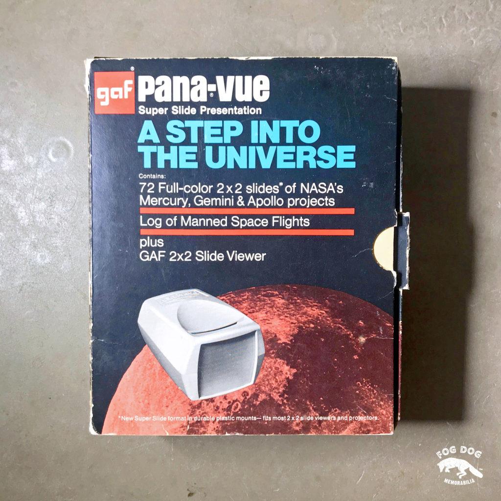 Ruční promítačka PANA-VUE s vesmírnou tématikou