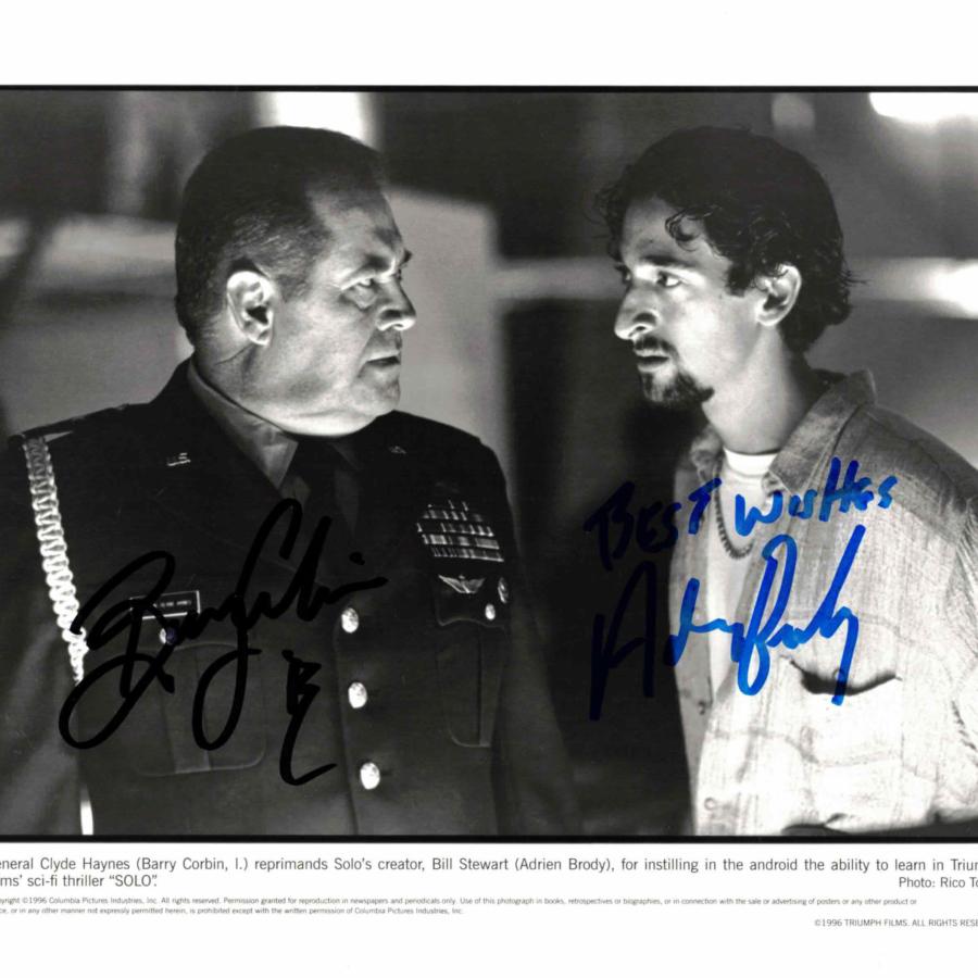 Adrien Brody & Barry Corbin - autogram