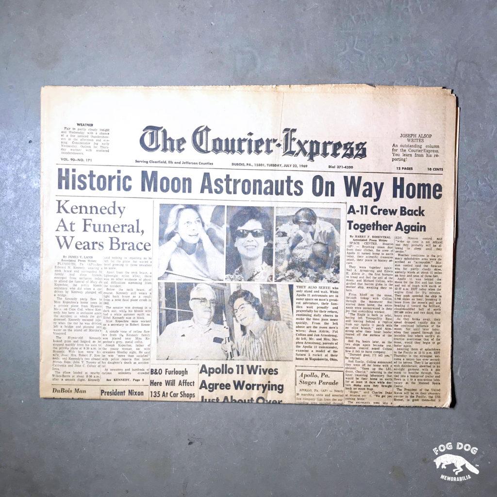 Vydání novin z 22.7.1969 - MOON ASTRONAUTS ON WAY HOME