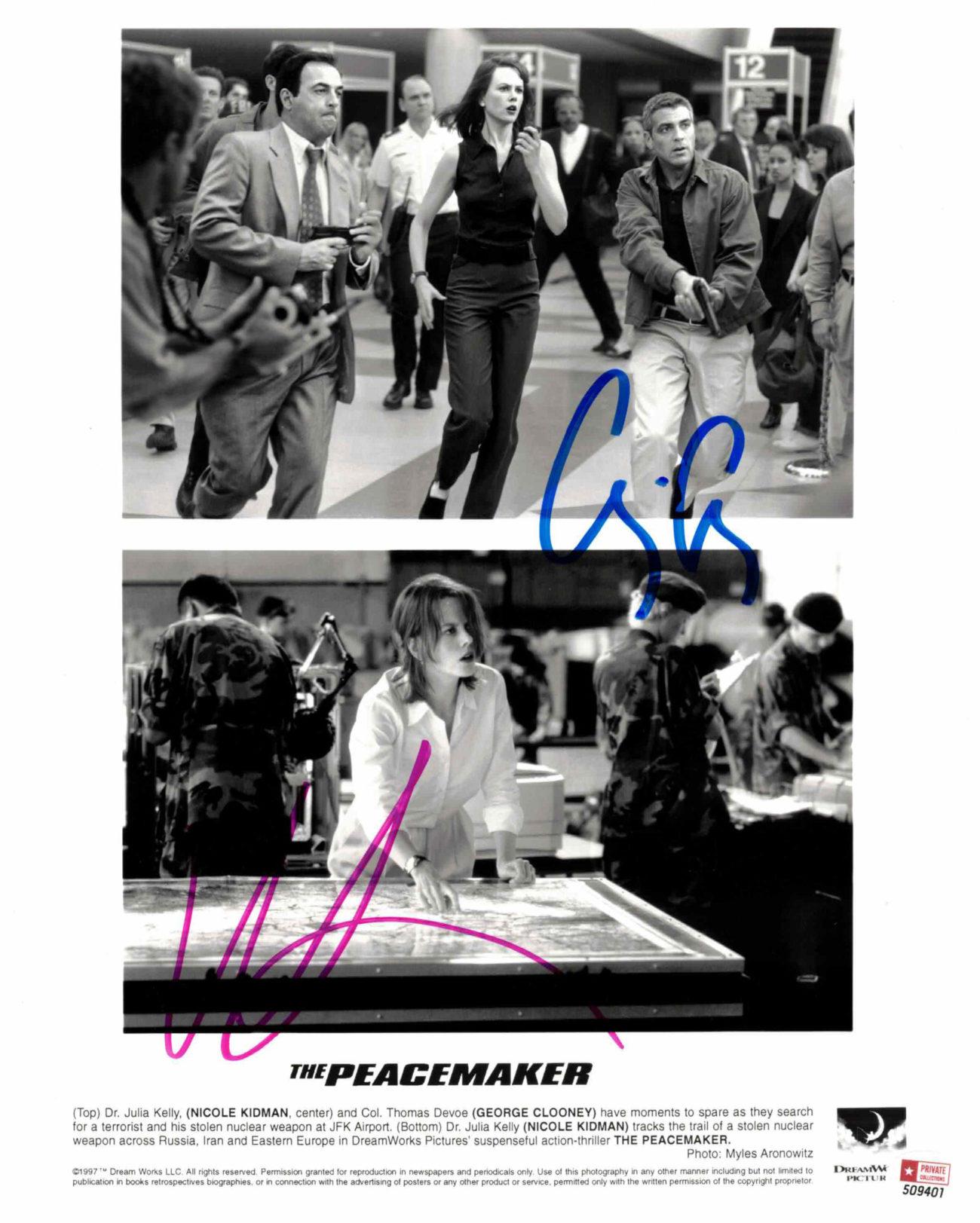 Nicole Kidman & George Clooney - autogram