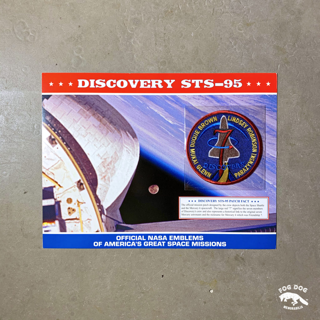 Oficiální textilní nášivka NASA - DISCOVERY STS-95