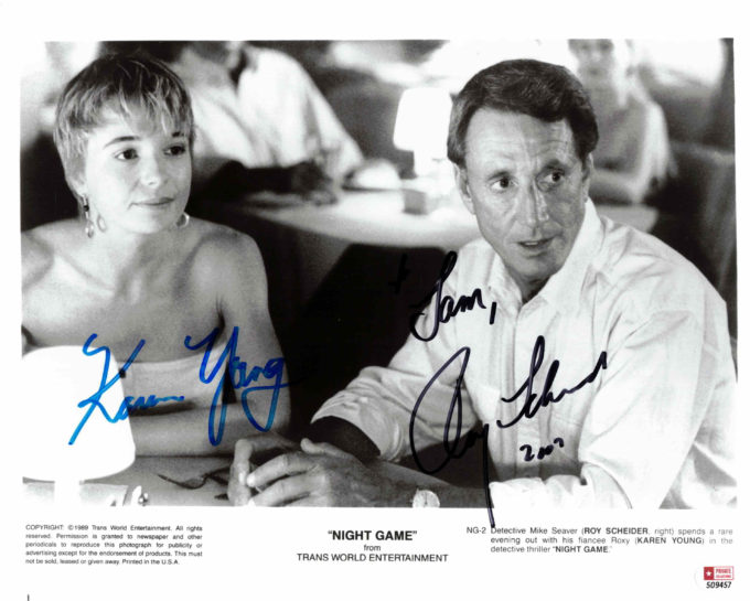 Roy Scheider & Karen Young - autogram