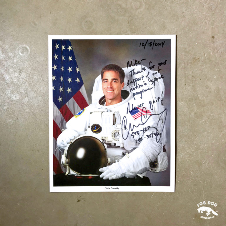 Autogram / astronaut Chris Cassidy