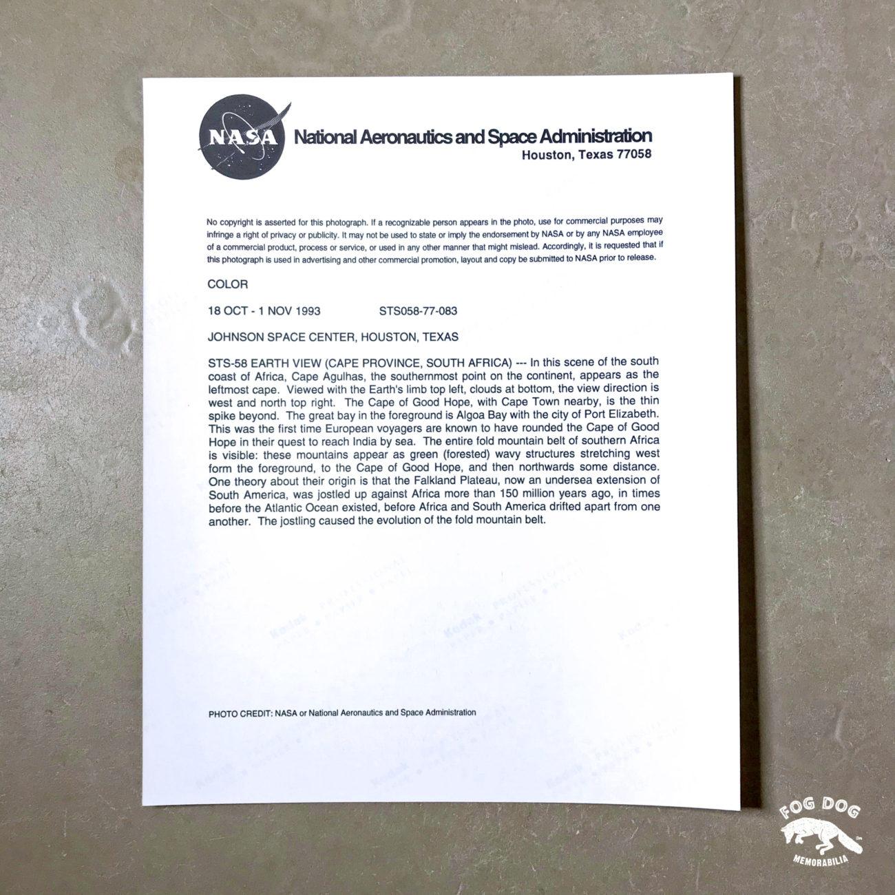 Oficiální fotografie NASA, číslovaná (1993)