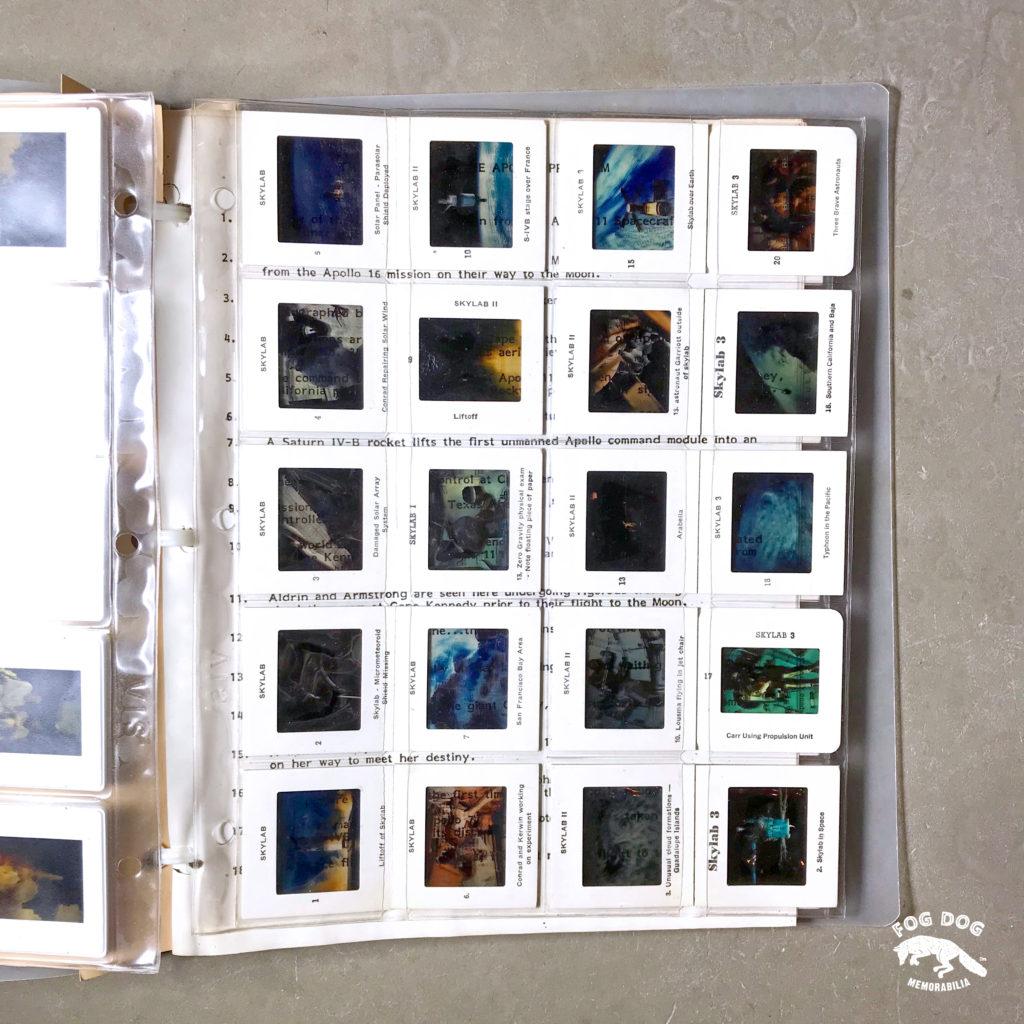 100 starých barevných diapozitivů NASA z misí Apollo, Mercury a Skylab