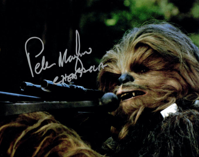 Peter Mayhew / Chewbacca, Star Wars - autogram