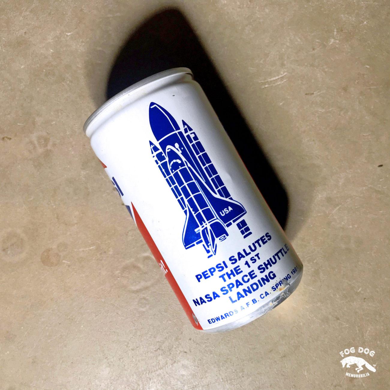 Plechovka PEPSI z roku 1981 (první přistání raketoplánu zpět na Zemi)