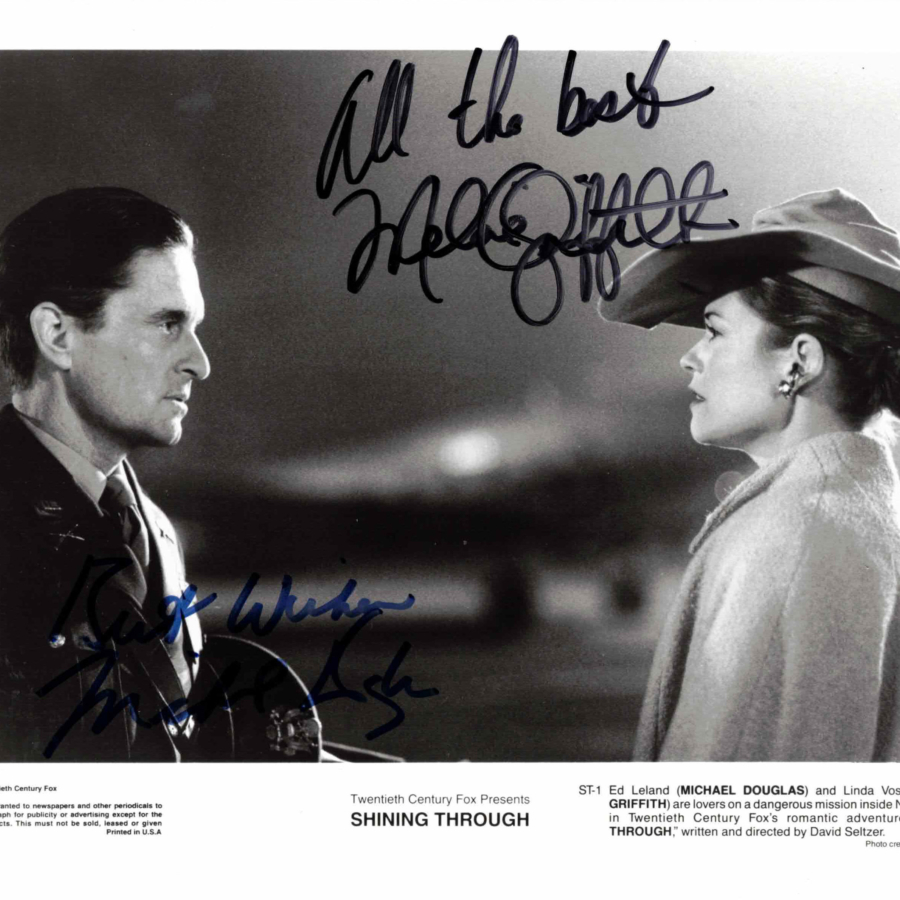 Mike Douglas & Melanie Griffith - autogram
