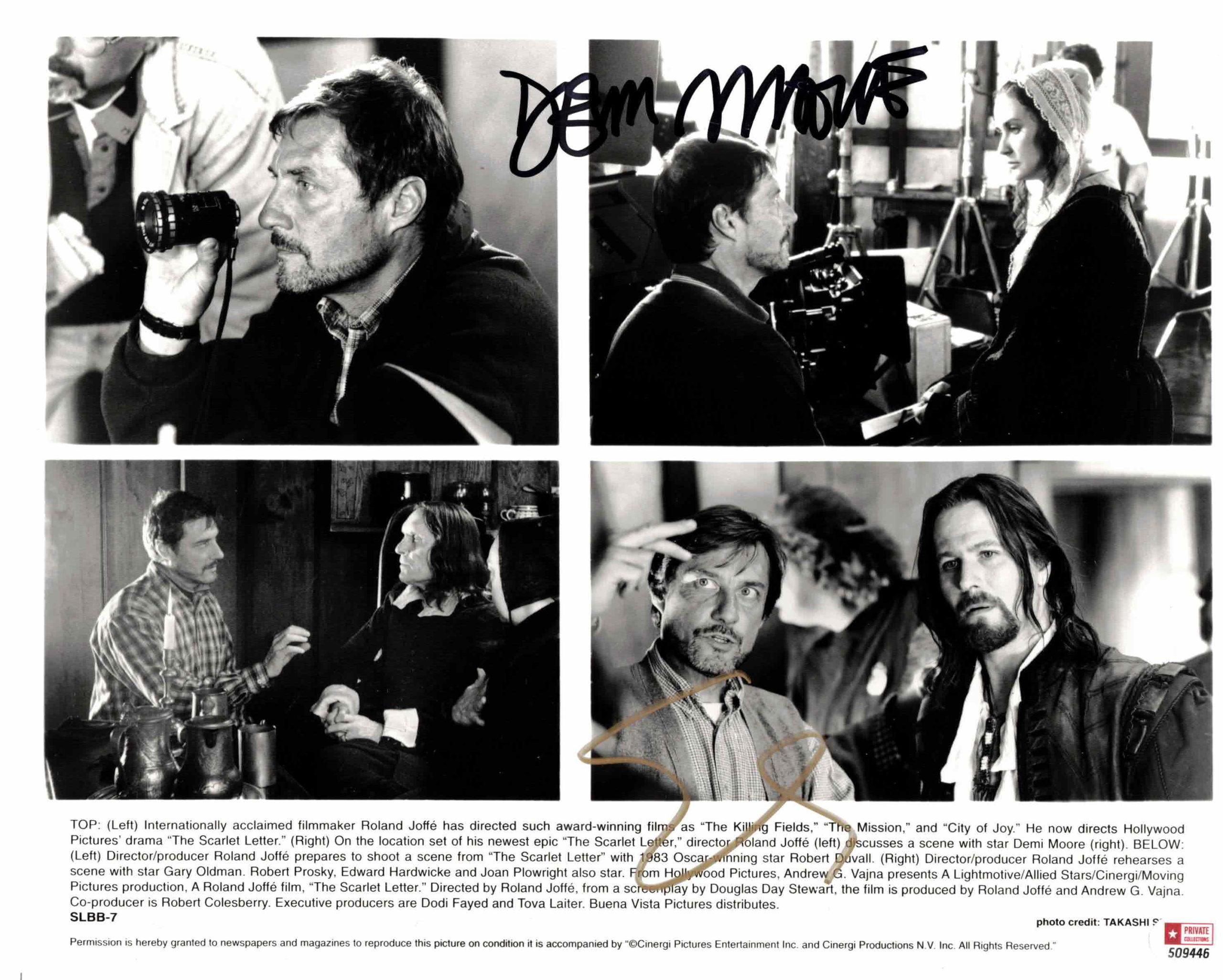 Demi Moore & Gary Oldman - autogram