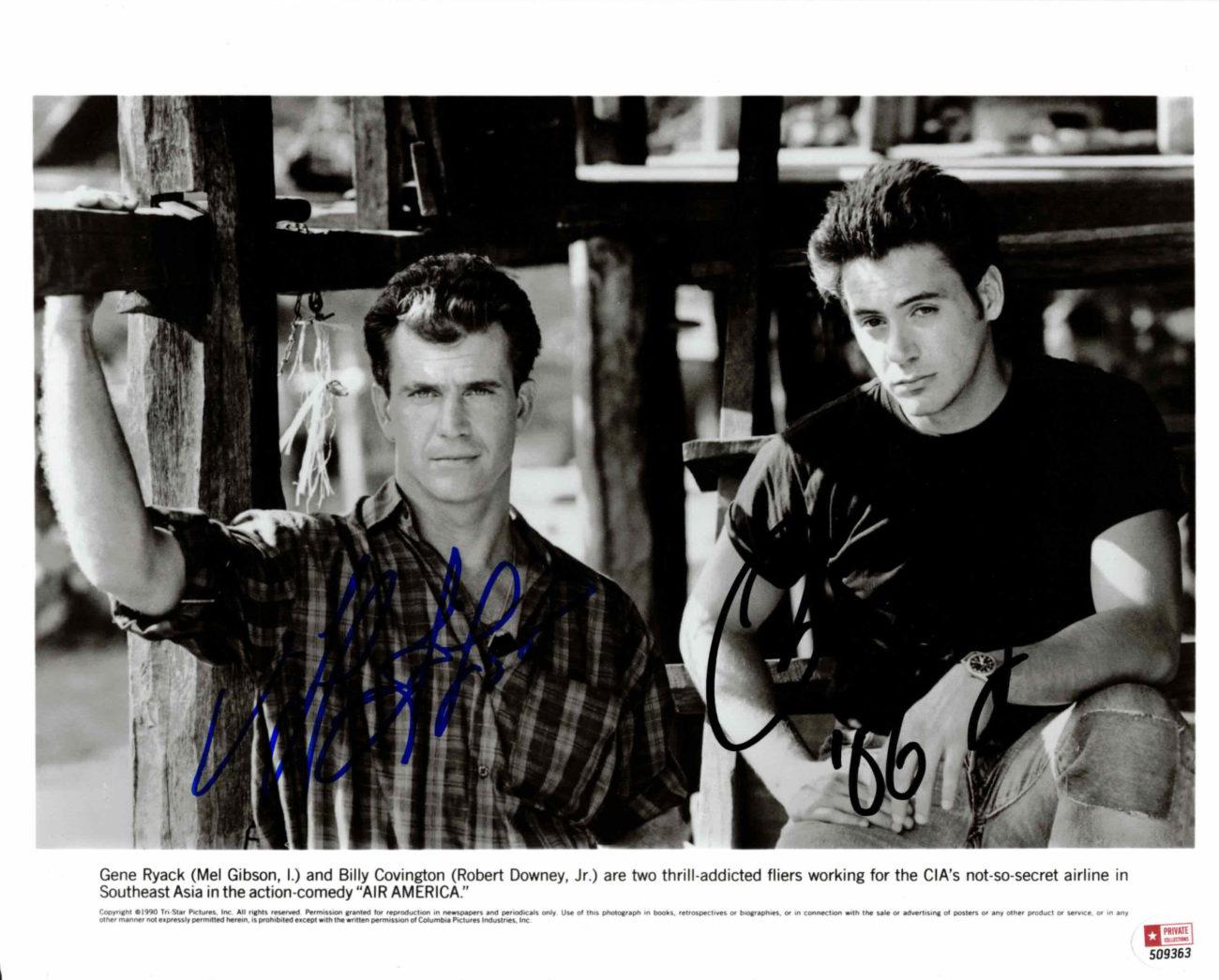 Mel Gibson & Robert Downey Jr. - autogram
