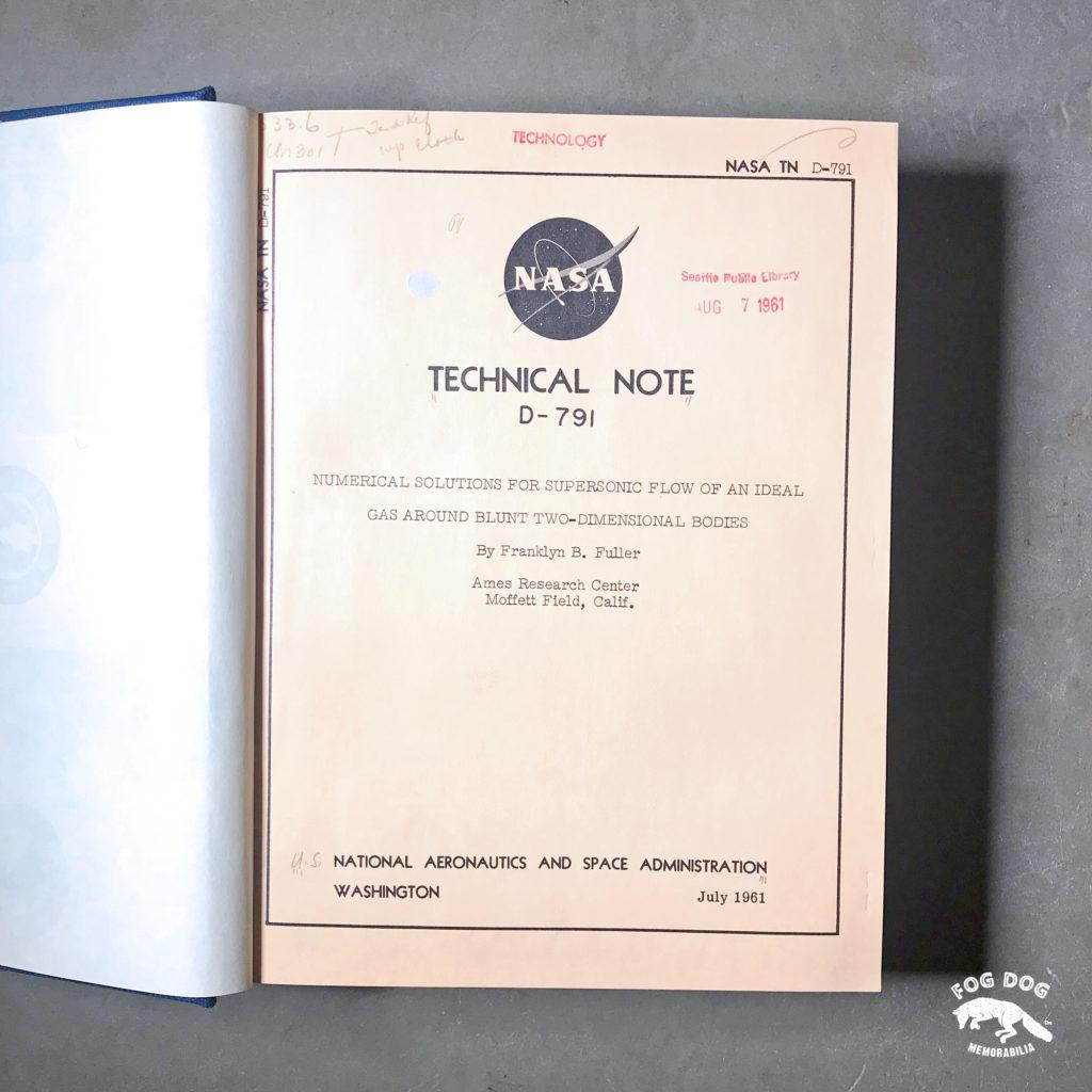 Kniha NASA Technical Note (1961)