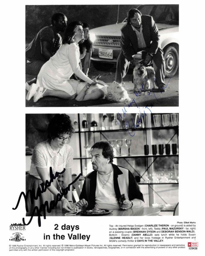 Charlize Theron & Marsha Mason - autogram