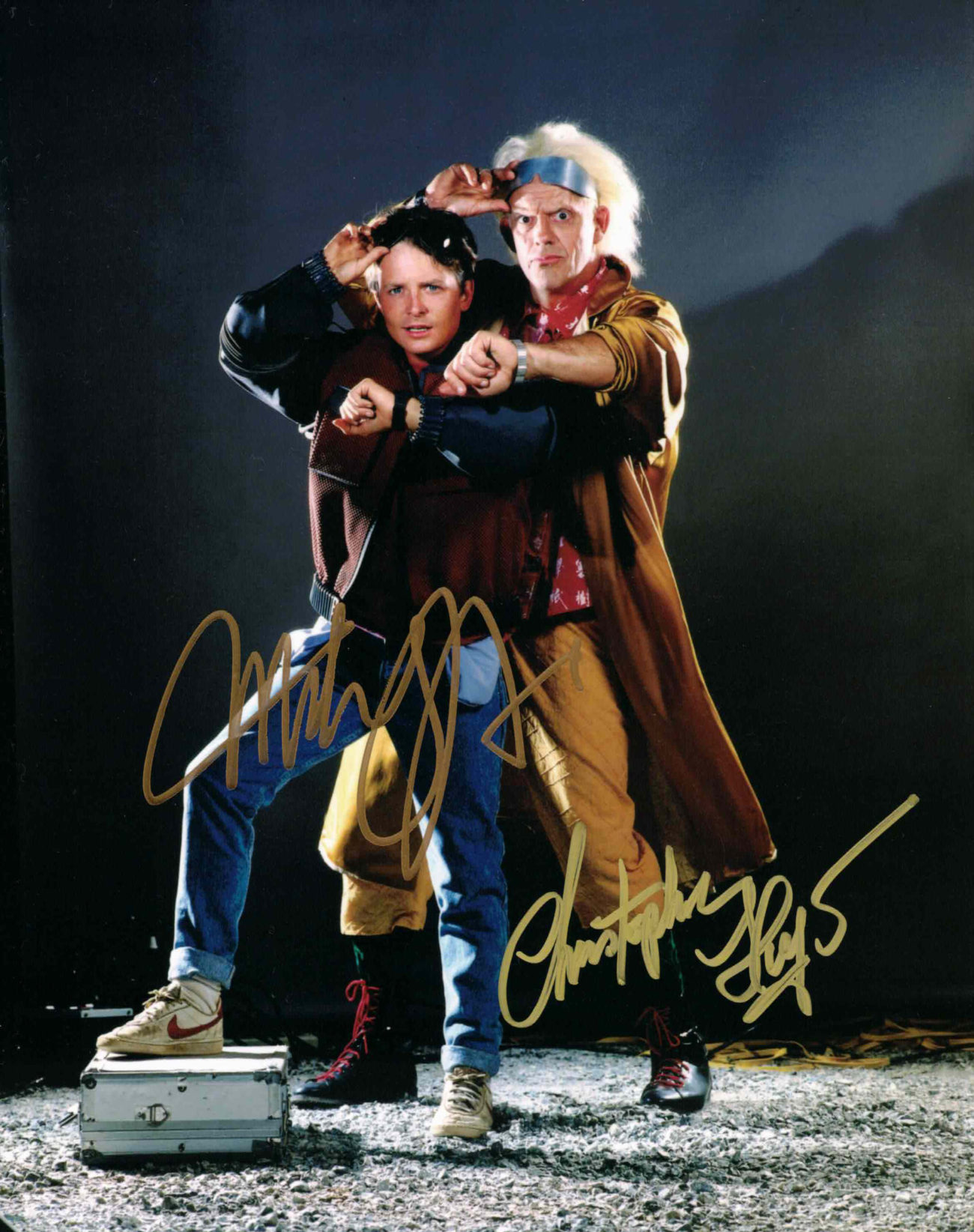Christopher Lloyd & Michael J. Fox / Návrat do budoucnosti - autogram