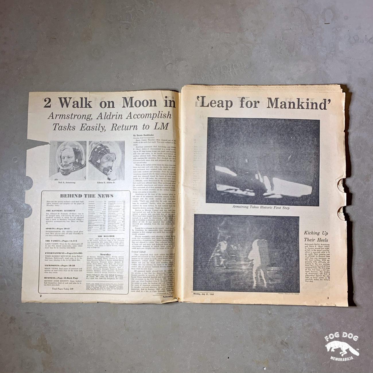 Vydání novin z 21.7.1969 - MEN WALK ON THE MOON