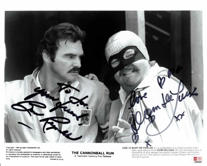 Burt Reynolds & Dom Deluise - autogram