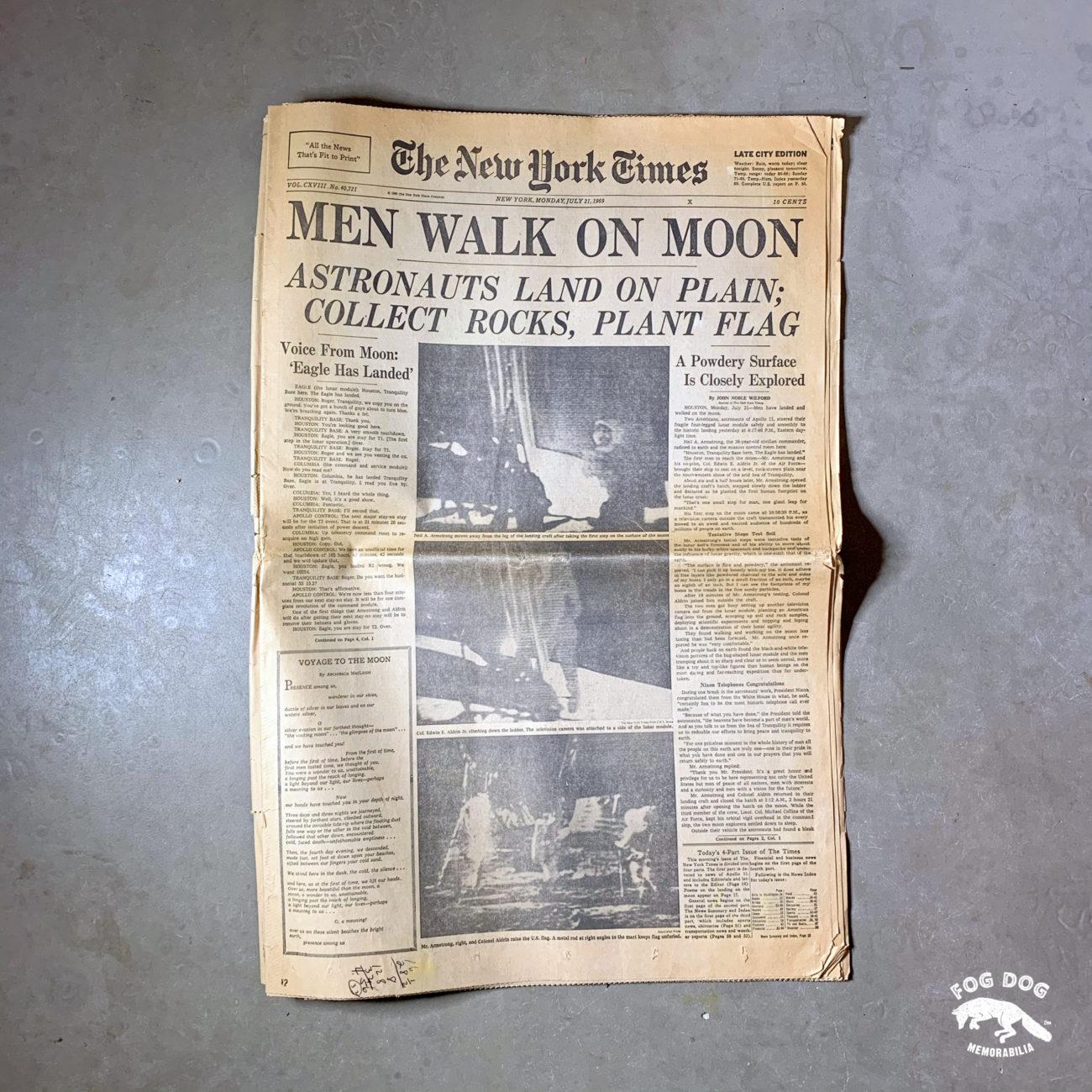 Vydání novin z 21.7.1969 - NEW YORK TIMES
