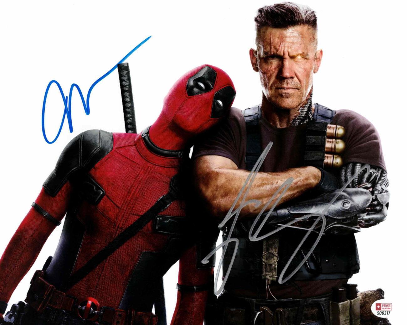 Josh Brolin & Ryan Reynolds / Deadpool - autogram