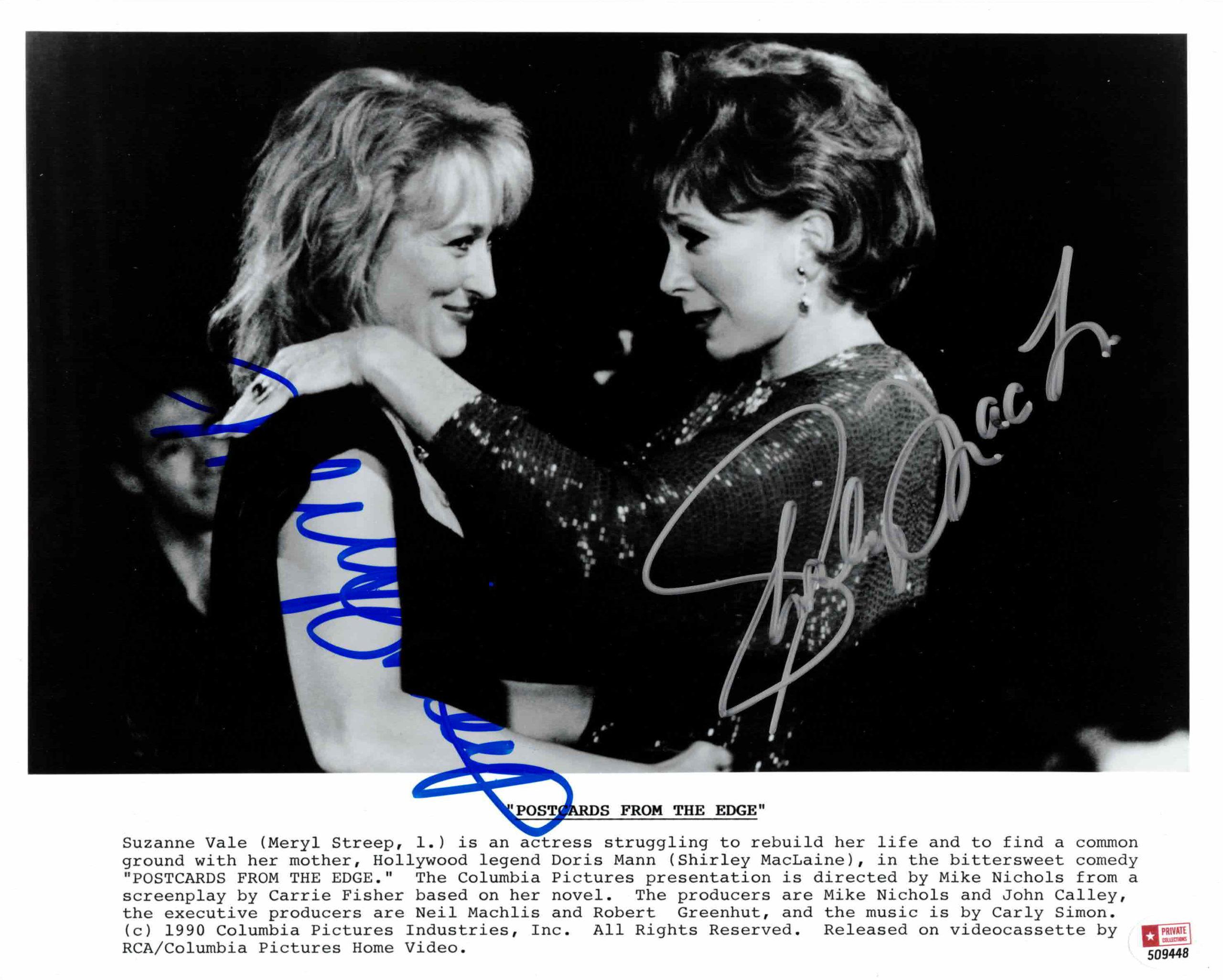 Shirley MacLaine & Meryl Streep - autogram